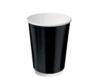 12oz Black Double Wall Paper Hot Cup