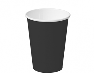 12oz Black Single Wall Paper Hot Cup