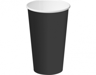 16oz Black Single Wall Paper Hot Cup