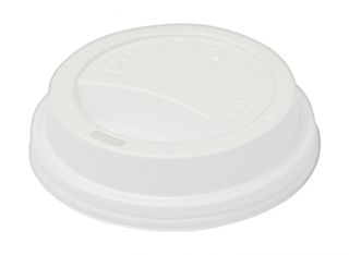 SnapOn Classic Hot Cup Lid WHITE (suit 12oz, 16oz Classic Single Wall Cups) 90 mm - Castaway