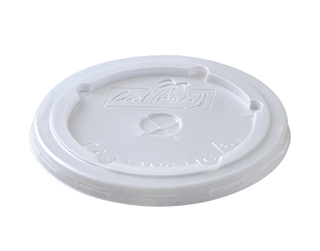 Lid to suit 24 oz Milkshake Paper Cold Cups, Flat, with straw slot - Castaway
