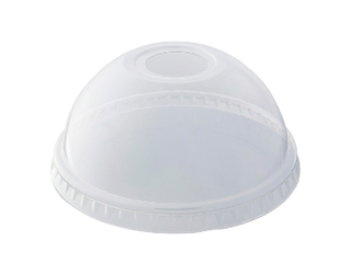 HiKleer' P.E.T Cold Cup Lid Dome, with straw hole (suit 12oz & 15 oz) - Castaway