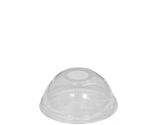 Costwise' P.E.T Cold Cup Lid Domed, with straw hole (suit 285 & 340ml cups) - Castaway