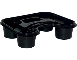4 Cup Stadium Carry Tray, Black (suit 8 - 24oz Cups) - Castaway