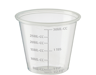 30ml/1oz Graduated Portion Cup, Clear - Castaway