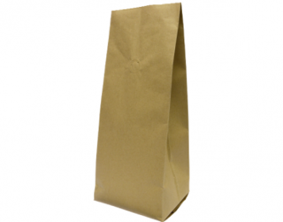 1kg Side Gusset Coffee Bag, Brown Kraft - Castaway