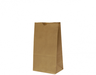 #4 SOS Paper Bags, flat bottom, Brown - Castaway
