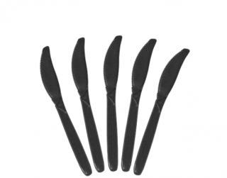 Costwise' Plastic Knife, Black 160 mm - Castaway