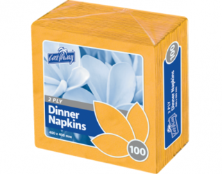 2 Ply Dinner Napkins, Quarter Fold, Gold