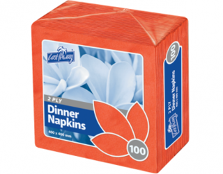 2 Ply Dinner Napkins, Quarter Fold, Red