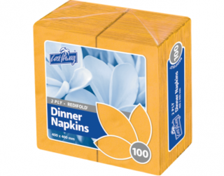 2 Ply Dinner Napkins, RediFold', Gold