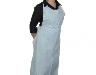 PrimeSource' Plastic Tear-Off Aprons - One Size, White - Castaway