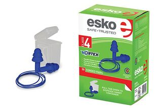 Vortex Reusable Corded (50 pairs) BLUE - Esko