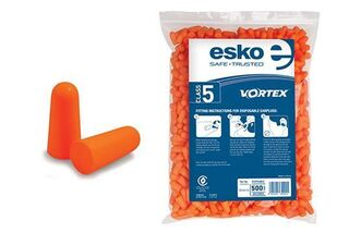 Vortex Earplugs Refill Bags for Dispenser (500 pairs) Orange - Esko