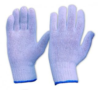 ESKO Knitted poly/cotton glove, White - Esko