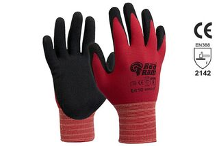RED RAM' Black sandy Latex with Red Polyamide Liner - Esko