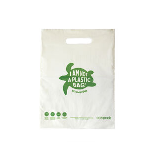 Punched Handle Bag Compostable Small - Ecobags - Pack or Carton