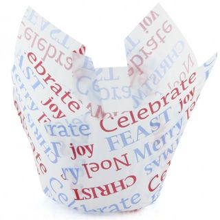 Texas Muffin Wrap - Celebrate Christmas (500 ctn) - Confoil