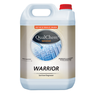 Warrior Sanitising Cleaner Degreaser 5L - Qualchem