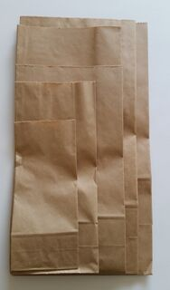 SOS Block Bottom Paper Bag #3 160x85x300mm - Fortune