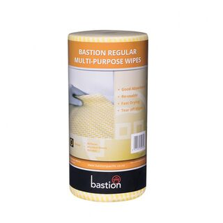 Bastion Regular Duty Wipes On A Roll - Yellow - UniPak