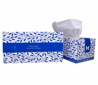 Facial Tissues - White, 2 Ply, 200 Sheets  - Matthews