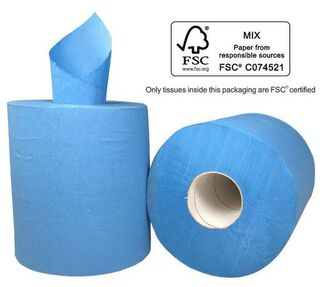 Centre Feed Paper Towel - BLUE,  2 Ply - Matthews