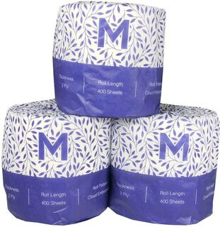 Wrapped Toilet Tissue - White, 2 Ply, 400 Sheets - Matthews