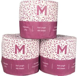 Wrapped Toilet Tissue - White, 3 Ply, 225 Sheets  - Matthews