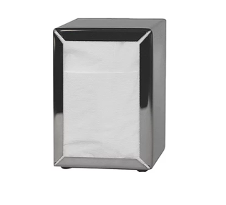 Costwise' Napkin Dispenser, Compact Fold, Stainless steel - Castaway