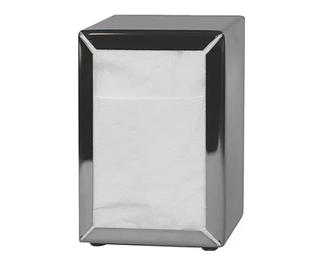 Costwise' Napkin Dispenser, Tall Fold, Stainless steel - Castaway