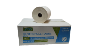 Centrefeed Towel 300m 1ply WHITE - CPC NZ