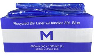 Bin Liner 80L with handles Blue - Matthews