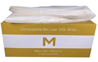Bin Liner 120L Compostable White - Matthews