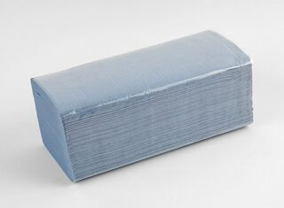 Midfold Blue Paper Towels - Coastal