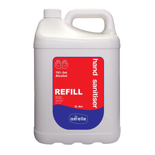 Hand Sanitiser - Alcohol Gel 5Litres - Aerelle