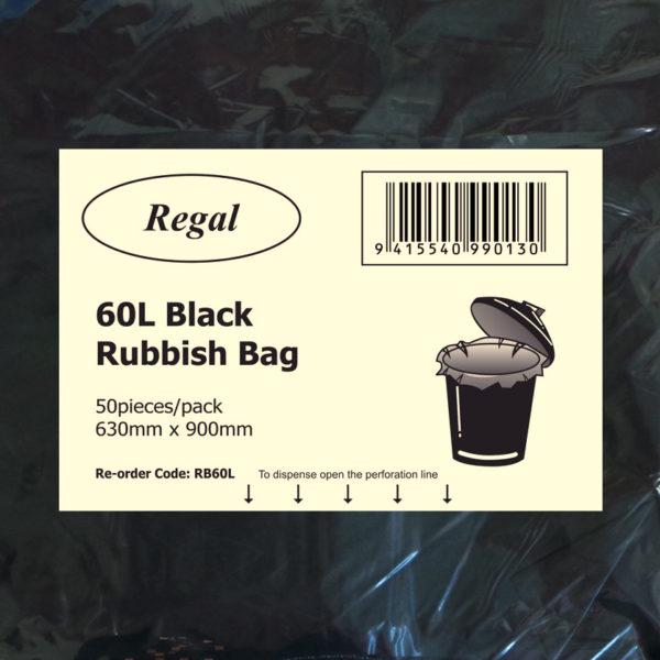 60L Black Bin Liner - Premier Hygiene