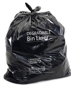 240L LD wheelie bin liner Degradable - EcoPack