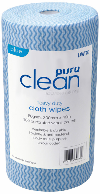 Cleaning Wipes Antibacterial Blue Pureen