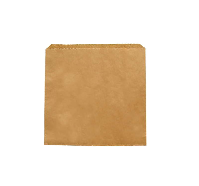Recycled Kraft flat bag 215x215mm - Vegware