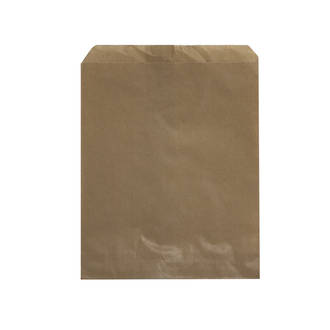 Flat Brown Paper Bags - 280x340 - No.9 - UniPak