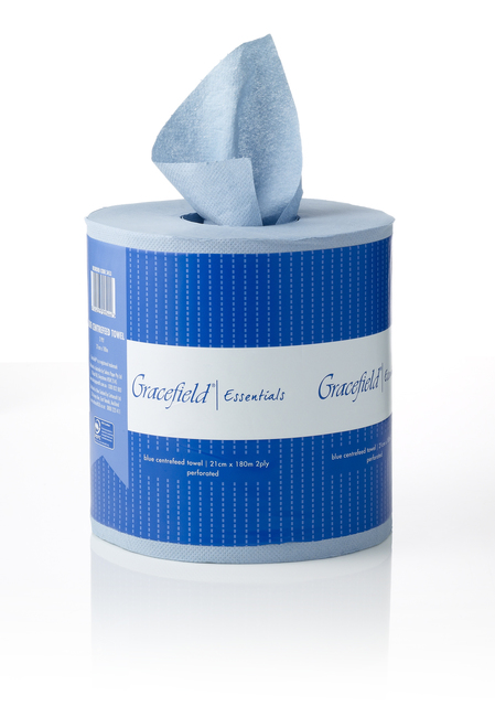 Blue Centrefeed Towel 2 PLY 180m - Gracefield Essentials