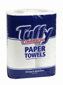 Commercial Paper Towel Twinpack 2 PLY 65s - Tuffy