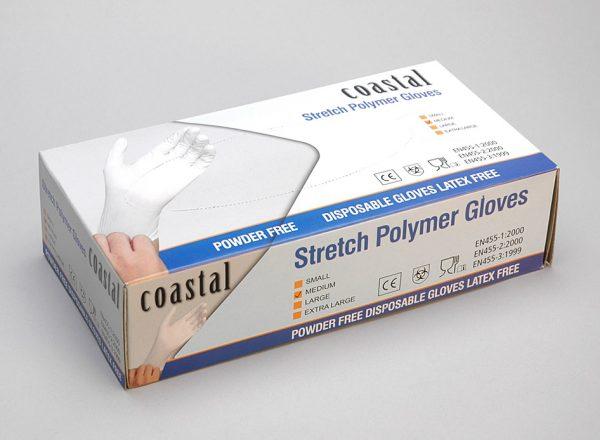 Polymer Gloves - Powder Free MEDIUM - Coastal