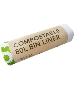 80L Compostable Bin Liners - Ecobags