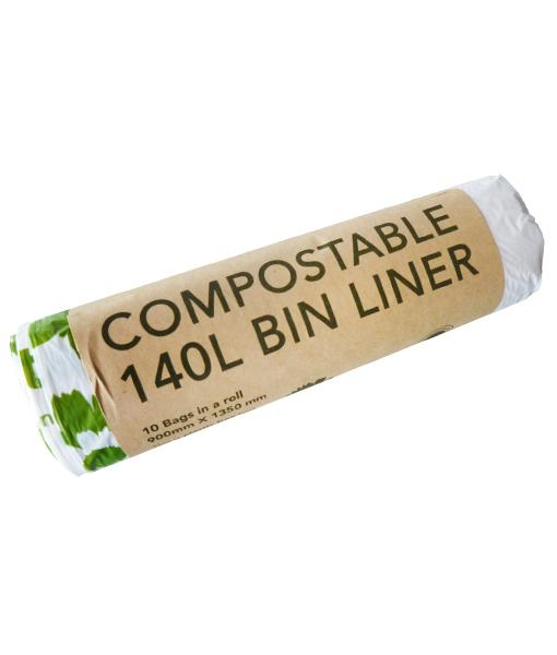 140l Compostable Wheelie Bin Liners Ecobags Insinc