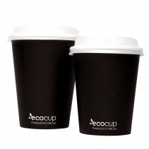 Hot Cup PLA Double Wall 16oz Black - Ecoware