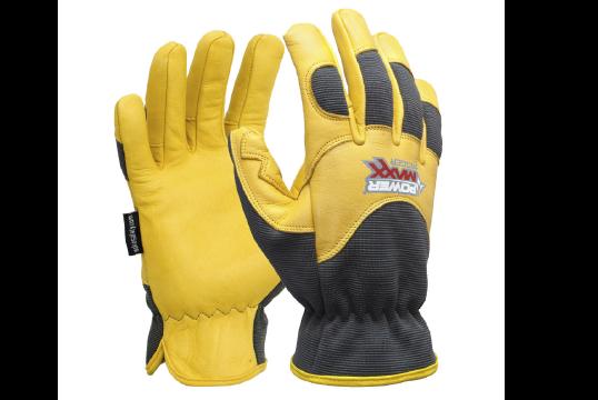 POWERMAXX RIGGER Premium Gold Leather Mechanic Riggers Glove, Large - Esko