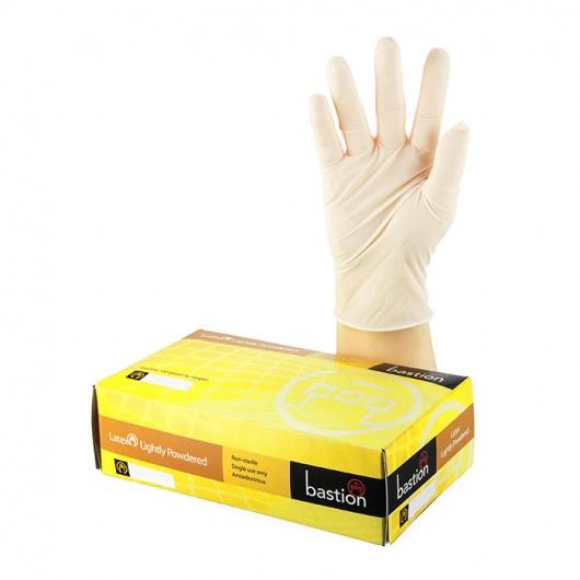 Bastion Latex Lightly Powdered Gloves LARGE - UniPak