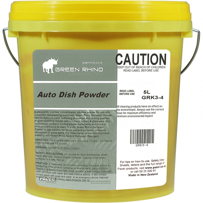 Auto Dishwashing Powder 4kg - Green Rhino